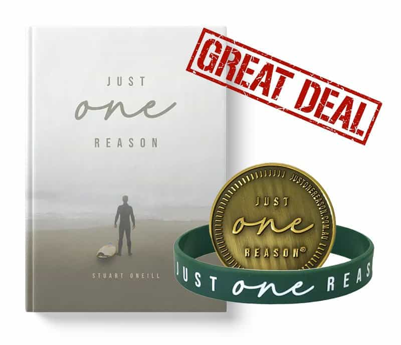 JUST ONE REASON ® bundle-book-coin-wristband Book Packs